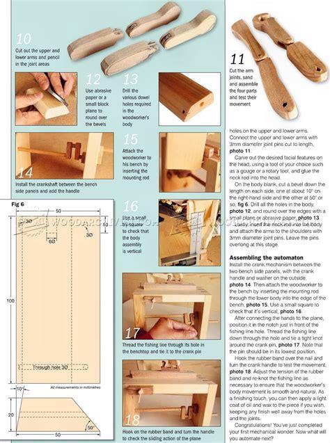woodworker automata toy plans woodarchivist