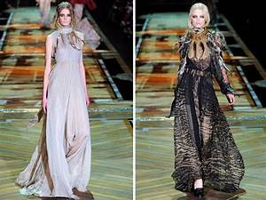 roberto cavalli draped gowns with high necklines and slit With roberto cavalli wedding dresses