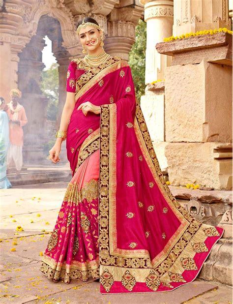 newest fashion  latest bridal saree designs