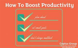 How To Improve Productivity - The Copius Group