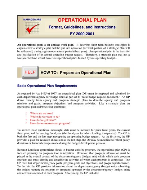 What are the two purposes of a business plan? 12+ Business Operational Plan Examples - PDF, Word, Docs   Examples