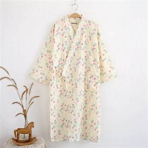 Cotton Bathrobes Kimono Spa Robe Women Pajamas Japanese ...