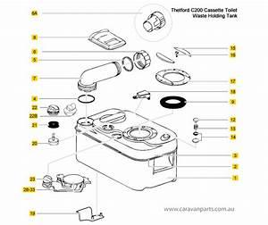 Thetford C200 Waste Holding Tank Spare Parts Diagram