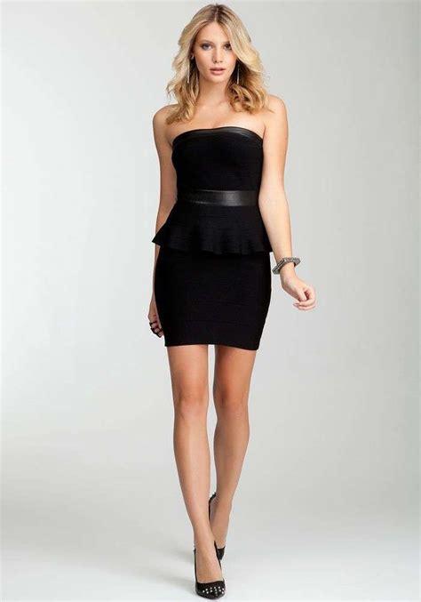 hermosos vestidos cortos peplum  fiesta de noche