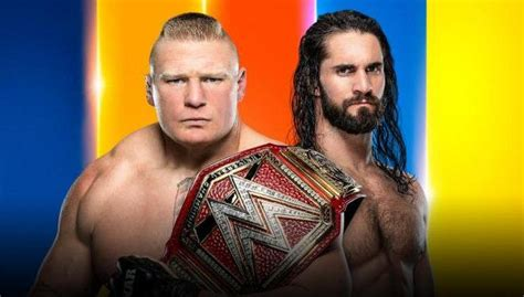 summerslam  poster features brock lesnar kofi