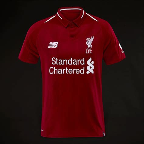 balance kids liverpool fc  home ss jersey red