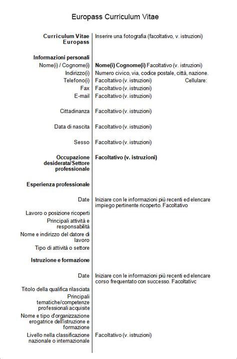 europass curriculum vitae samples sample templates