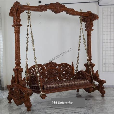 wooden carved swing jhula  usa   home swing