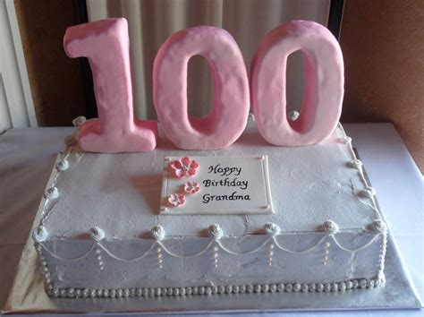 100th Birthday Cake Decorating Ideas