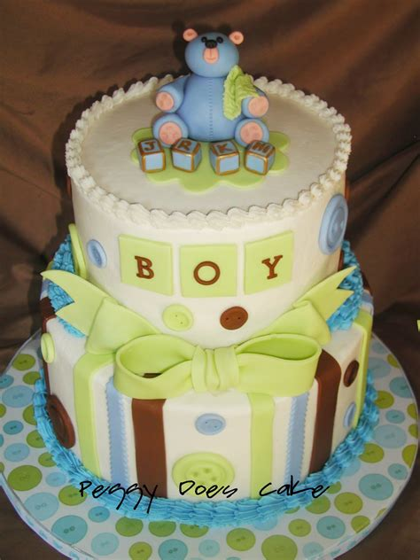 Baby Shower Baby Cake - peggy does cake baby shower cake as a button