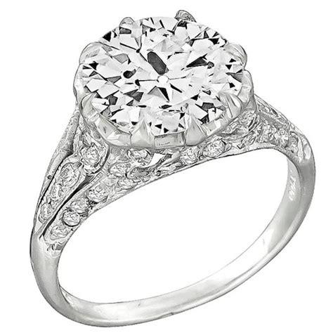 3 10 carat diamond platinum engagement ring for sale at 1stdibs