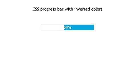 css progress bar  inverted colors