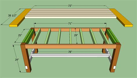 plans woodworking plans farmhouse dining table