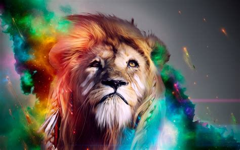Lion Abstract 4k, Hd Abstract, 4k Wallpapers, Images