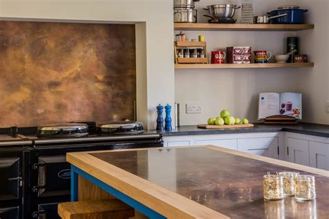 brass copper worktops pros cons sustainable kitchens