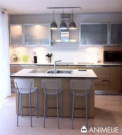 decoration cuisine taupe ilot central animelie le blog