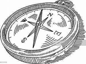 Compass Drawing Vector Art