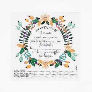 Theme Anniversaire Fille : papeterie cartons d 39 invitation fleur anniversaire ~ Melissatoandfro.com Idées de Décoration