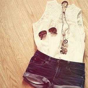 Cute teen fashion news tumblr sunglasses summer shorts ...