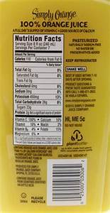 Simply Orange Juice Nutrition Label - Nutrition Ftempo