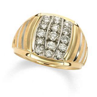 mens  ct tw diamond vertical stripe ring   gold