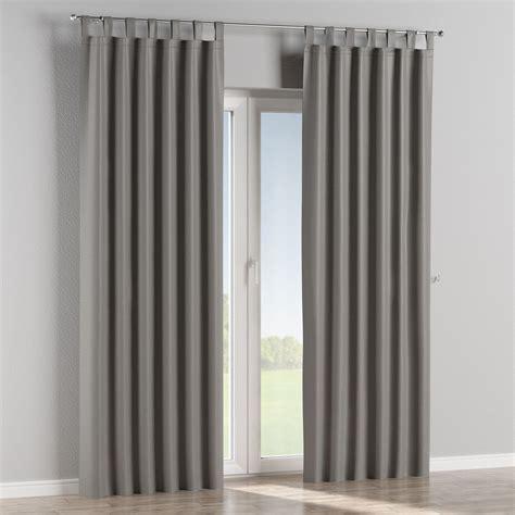 Tab Top Drapes Curtains - blackout tab top curtains graphite grey dekoria