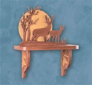 Shelves - Deer Shelf Scroll Saw Pattern