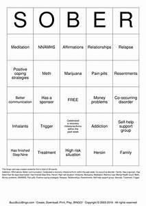 Recovery Bingo Cards