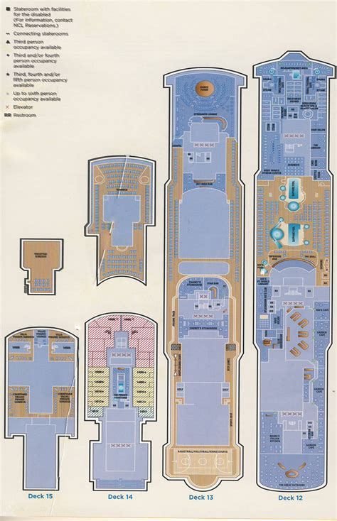 ncl pearl deck plans pdf deck plan