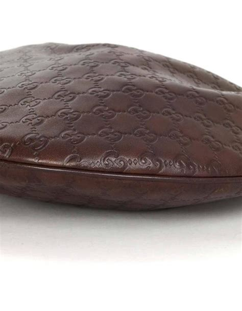 gucci brown embossed guccissima leather hobo bag  sale
