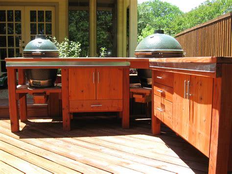 Green Egg Built In Outdoor Kitchen Ideas — Bistrodre Porch