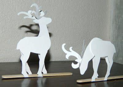 printable paper reindeer templates effiloche