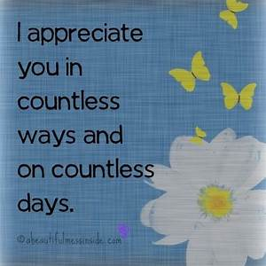 Work I Appreciate You Quotes. QuotesGram