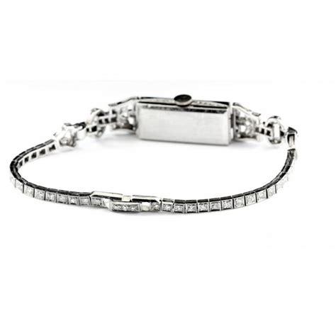 Art Deco Platinum and Diamond Watch Elgin (Lot 96 The