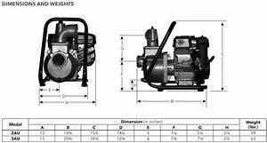 Goulds Au Series Trash Pump Dimensions