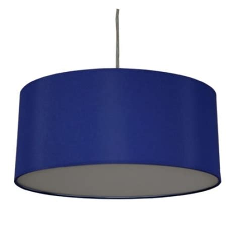 blue drum l shade drum pendant shade in royal blue cotton imperial lighting