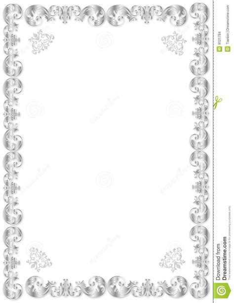 decorative silver frame stock images image