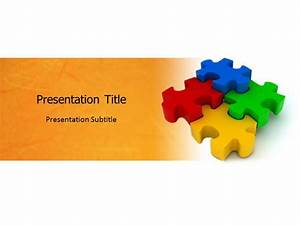 Jigsaw Puzzle with White and Yellow PowerPoint Templates ...