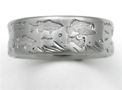 desoto  titanium ring  bass titanium wedding rings