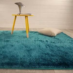 Tapis Bleu Petrole : tapis shaggy bleu fin et doux ~ Teatrodelosmanantiales.com Idées de Décoration