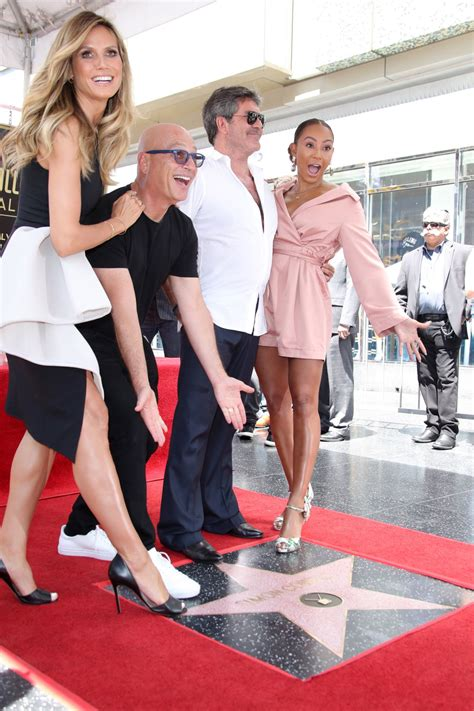 Melanie Brown Simon Cowell Honored With Star The