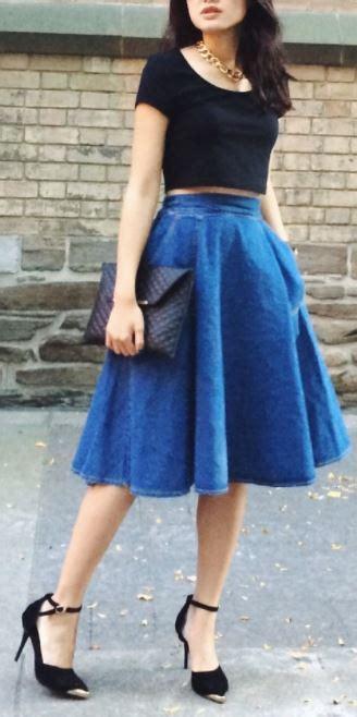 Como combinar una falda larga azulu3010muchos modelos y colores