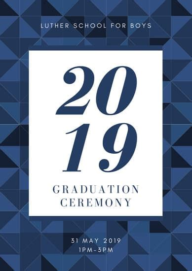 customize  graduation program templates  canva