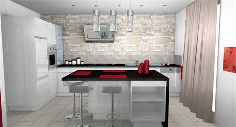 decoration mur cuisine deco cuisine moderne blanc