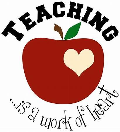 Clipart Teacher Apple Clip Appreciation Teachers Teaching