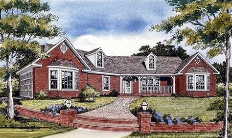 angled country ranch ja architectural designs house plans