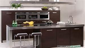 Modernas, Cocinas, En, Color, Wengu, U00e9