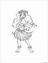 Hula Coloring Printable Cartoons Coloringpagesonly sketch template