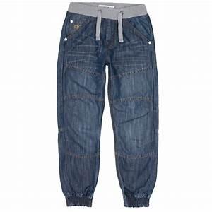 Boys Blue Washed Distress Cuffed Denim Jeans