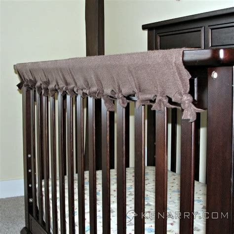 diy crib rail cover crib rail cover easy idea with no sewing required